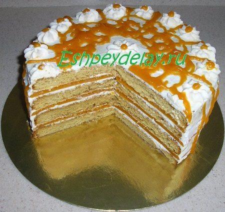 Торт Медовая тыква в разрезе