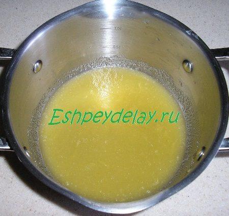 Апельсиновый сок с желатином