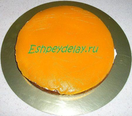 Желейный слой торта