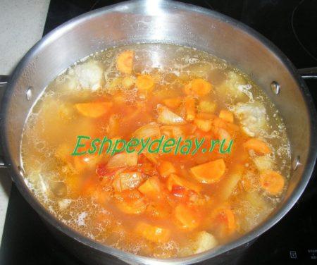 Обжарка в супу