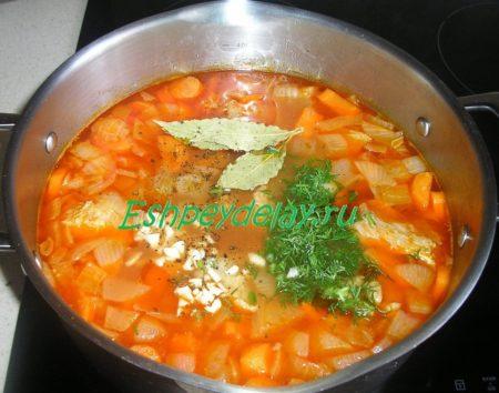Добавленные в суп специи