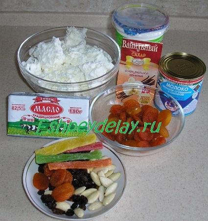 Рецепт пасхи со сгущёнкой