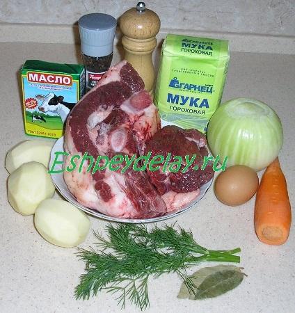 Рецепт супа из конины с салмой