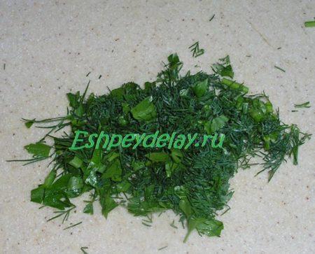Мелко резанная зелень