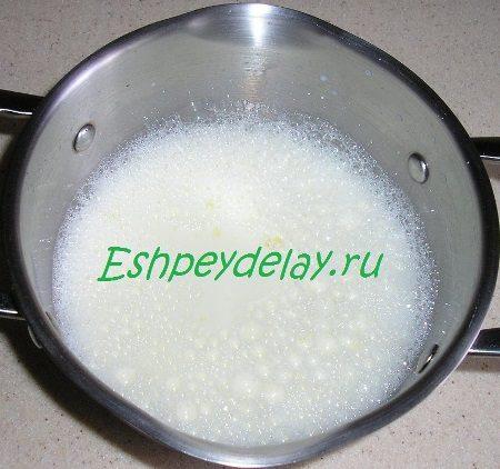 Молочно яичная смесь