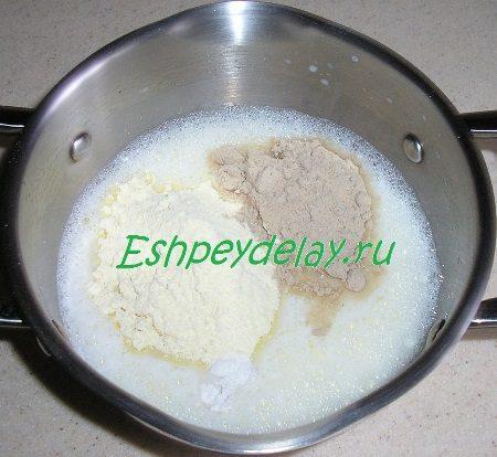 Молочная смесь с мукой
