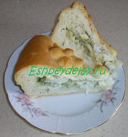 Пирог с макрурусом в разрезе