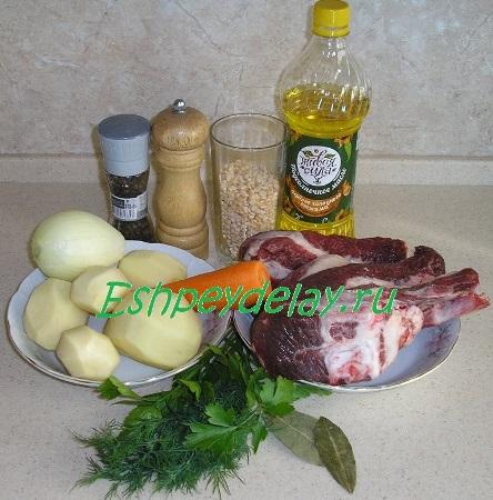 Рецепт горохового супа из конины