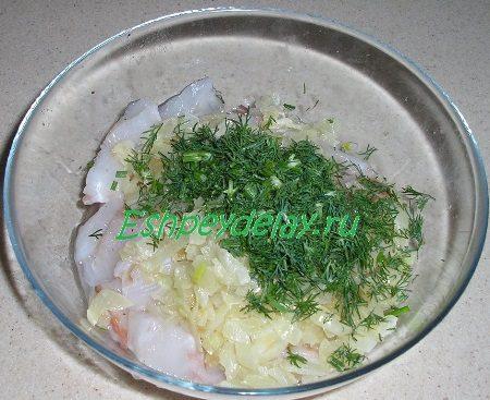 Макрурус слуком и зеленью