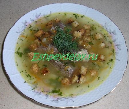 Суп из конины с горохом