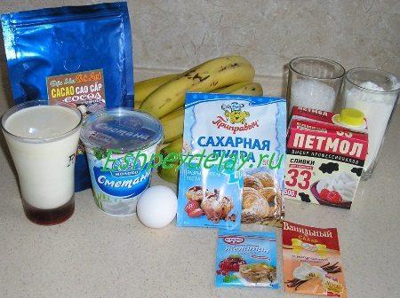 Рецепт торта банановый рай