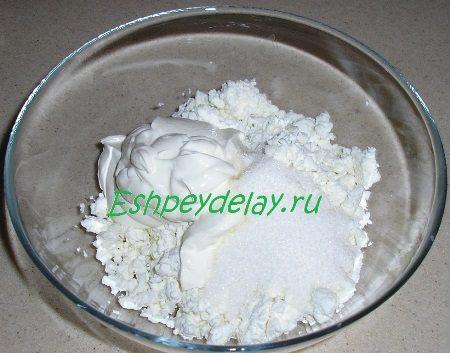Ингредиенты для творожного крема