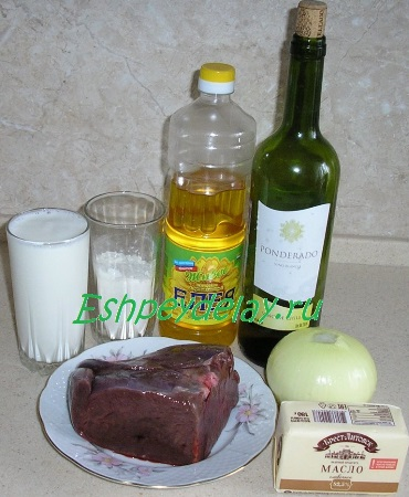 Рецепт стейков из говяжьей печени с луковым соусом