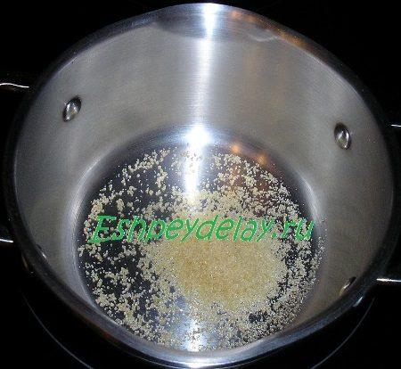 желатин в кастрюльке