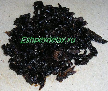 Чернослив порезанный соломкой