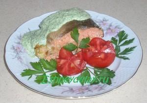 кижуч с овощами