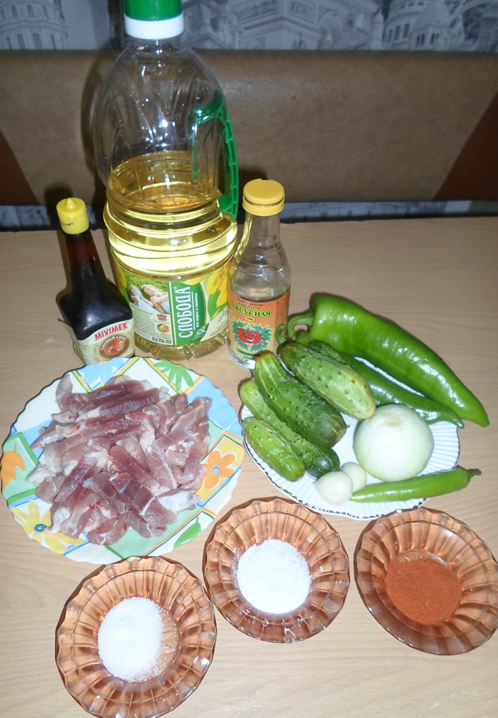 рецепт китайского салата с мясом