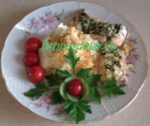 горбуша в сметанном соусе