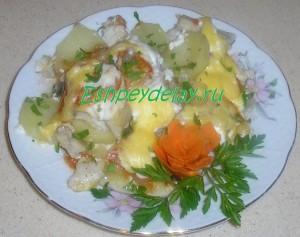 терпуг с картошкой в духовке