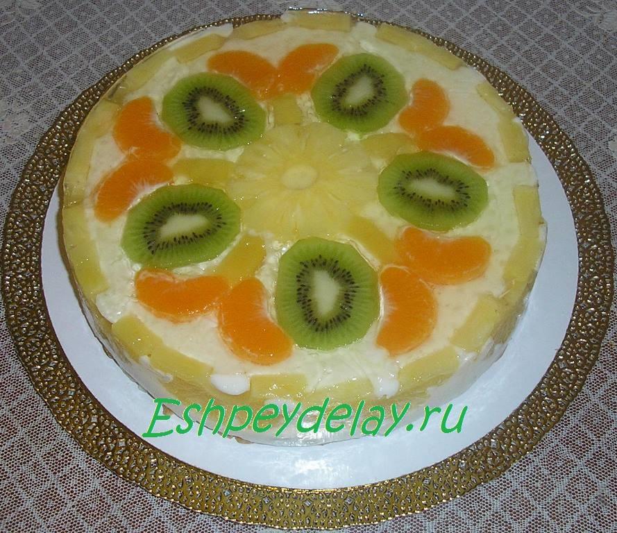 желейный торт с фруктами