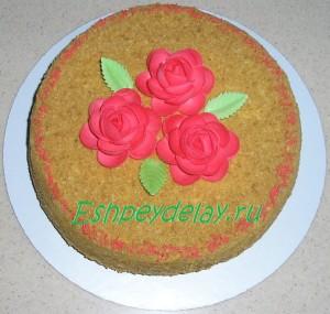 Торт рыжик со сметанным кремом
