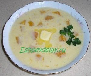 Молочный суп с тыквой