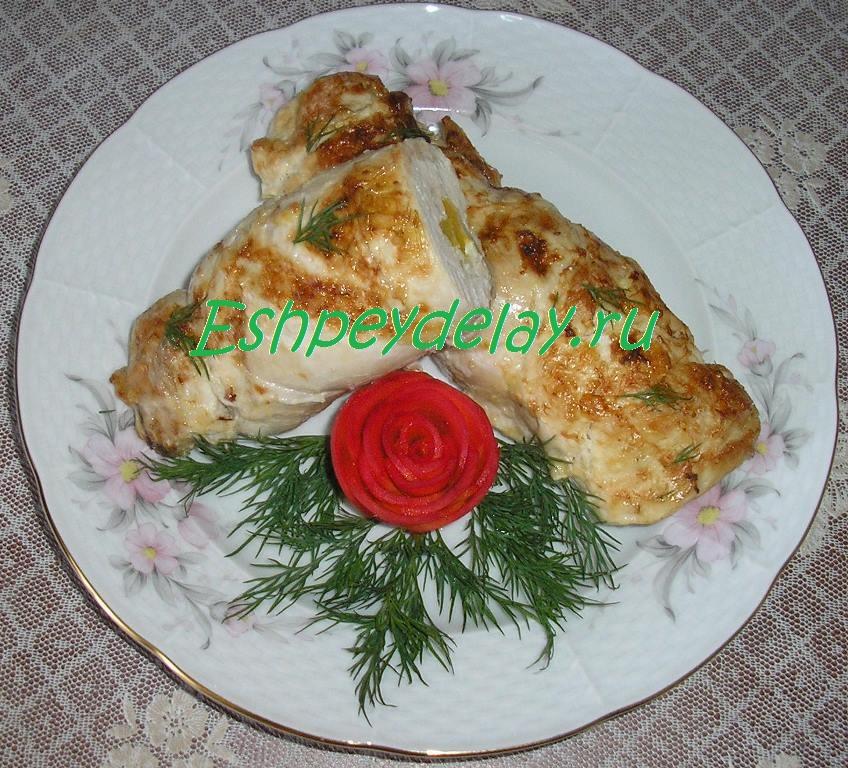 рулетики из куриной грудки с сыром
