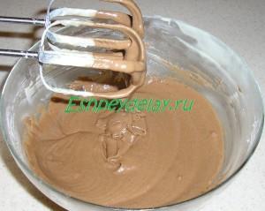 какао с тестом на торт