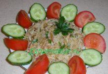 Плов из жареного риса с вермишелью