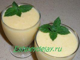 Молочный коктейль из манго , с мороженым