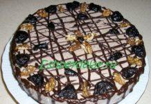 Торт мусс из чернослива с грецкими орехами
