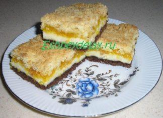 Песочное печенье с творожной начинкой и вареньем
