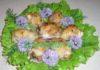 Куриные рулетики с брынзой и шпинатом