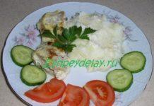 Щука в сметанном соусе с чесноком