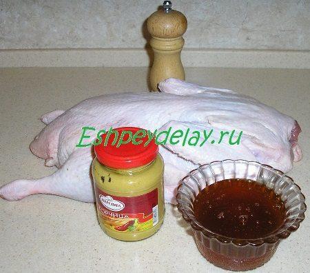Рецепт утки в медово - горчичном соусе