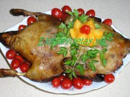 Утка в медово-горчичном соусе