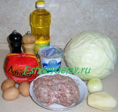 Рецепт капустных стожков с фаршем