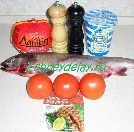 Рецепт горбуши запеченной в йогурте