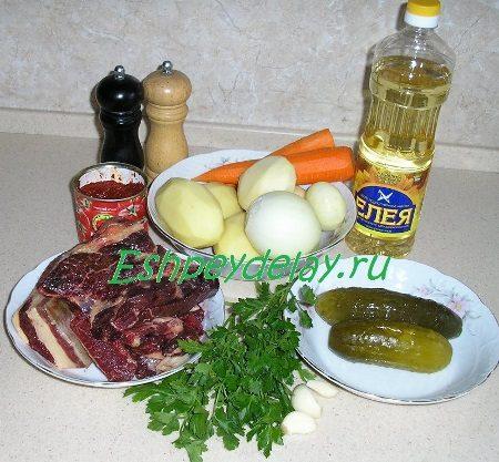 Рецепт азу по татарски с кониной