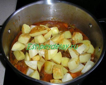 Добавленный в азу картофель