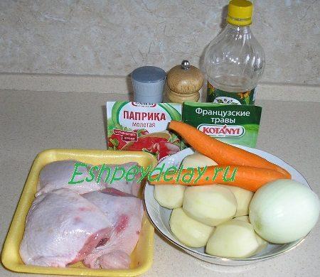 Рецепт куриных бедрышек, запеченные в рукаве