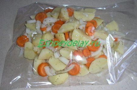 Овощи в пакете