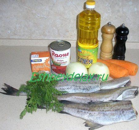 Рецепт минтая в сливочно - томатном соусе
