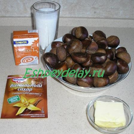 Рецепт крема из каштанов
