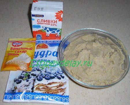 Рецепт десерта из каштанов со сливками