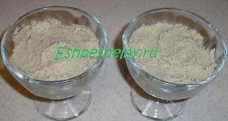 Каштановый крем в креманках