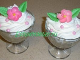 Десерт из каштанов со сливками