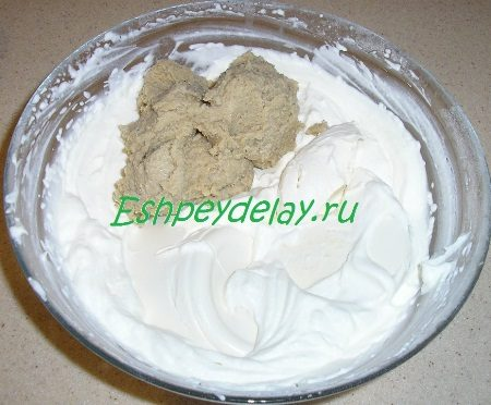 Добавленный крем и маскарпоне