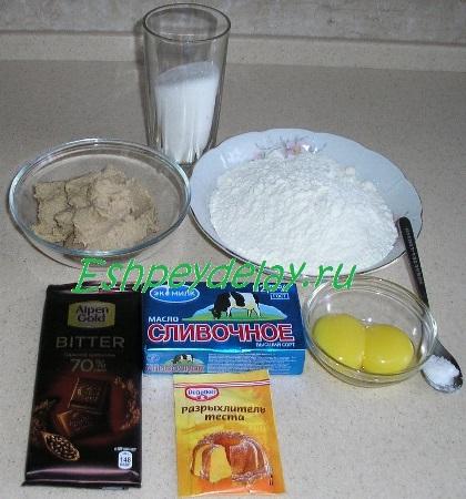 Рецепт шоколадного печенья с каштанами