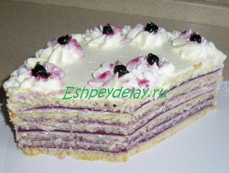 Тортик в разрезе